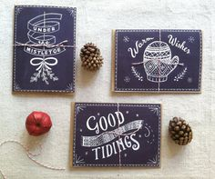 Chalkboard Christmas Card Set
