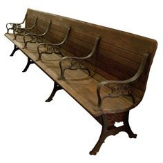 1900's American Train Station Bench...would be incredible by a back door with shelves surrounding it to organize my things.