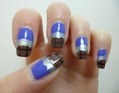 caz 'n' polish: Dairy Milk chocolate nail art. Tutorial at http://caznpolish.blogspot.co.uk/2013/04/polish-days-7-deadly-sins.html