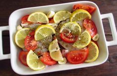 Hake with tomato and lemon in the oven | Food From Portugal