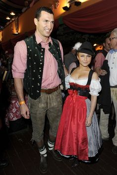 Pin for Later: Raise a Pint to the Chicest Stars in Dirndls Wladimir Klitschko and Hayden Panettiere