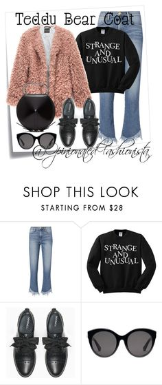 A fashion look from November 2017 featuring shirt top, blue jeans and lace up flats. Browse and shop related looks. Bear Coat, Max Co, Lace Up Flats, 3.1 Phillip Lim, Blue Jeans, Fashion Looks, Gucci, Teddy Bear, Ootd