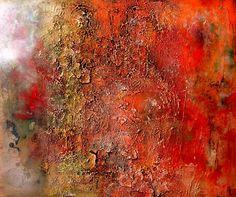 Erosie V, schilderij van Ali Kleinhuis   Abstract   Modern   Kunst