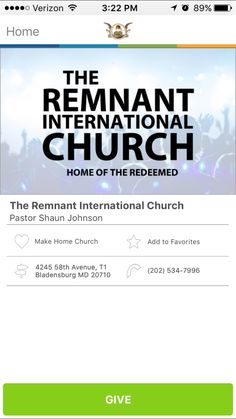 The Remnant International Church in Bladensburg, Maryland #GivelifyChurches