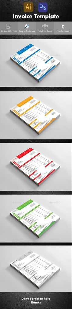 Corporate Invoice Font logo and Logos - invoice creation