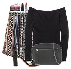 """""""Untitled #3206"""" by abigailtaylor ❤ liked on Polyvore featuring Free People, AllSaints, Kurt Geiger, tarte, Anastasia Beverly Hills, OPI and Kendra Scott"""