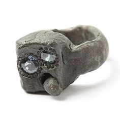 Karl Fritsch - Silver, sapphire, 2011 (exhausted ring ! LOL !)