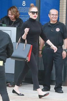 bbd2e328e38d Jennifer Lopez wearing Christian Louboutin Pigalove Flats and Christian  Louboutin Paloma Large Tote Bag Lopez Show