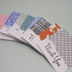 Great way to use leftover pieces of decorative paper- including those end pieces of wrapping paper.