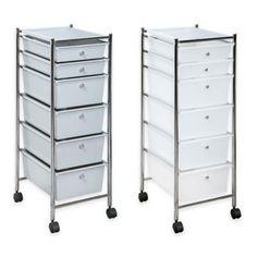 6 Drawer Plastic Rolling Storage Cart   BedBathandBeyond.com