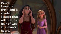 Disney Ladies from Last Night: Tangled - fear of God lipstick (http://disneyladiesfromlastnight.tumblr.com/image/76334582487)