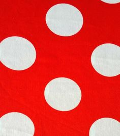 Halloween Spirit Collection-Dot Knit Red & White Fabric