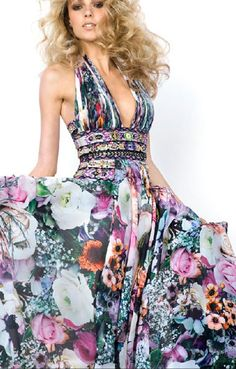 Zuhair Murad. love the halter/waistband, would like to see different material or pattern in skirt