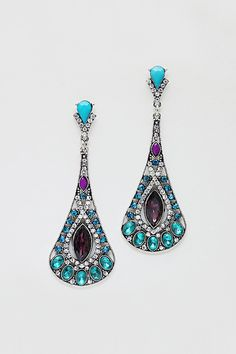 Alexandra Earrings in Soft Blue Crystal