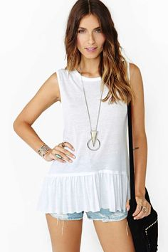 Chaser For The Frill White Muscle Tee
