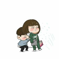 Weightlifting Fairy Kim Bok-joo, oh my god this hilarious scene Weightlifting Fairy Kim Bok Joo Fanart, Weightlifting Fairy Kim Bok Joo Wallpapers, Weightlifting Kim Bok Joo, Korean Art, Korean Drama, Weightlifting Fairy Wallpaper, Weighlifting Fairy Kim Bok Joo, Nam Joo Hyuk Wallpaper, Chibi