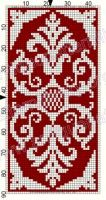 Gallery.ru / Фото #128 - Le Filet Ancien au Point de Reprise III - gabbach Cross Stitch Charts, Filet Crochet Charts, Cross Stitch Love, Knitting Charts, Knitting Stitches, Cross Stitch Designs, Cross Stitch Patterns, Le Filet, Beaded Embroidery