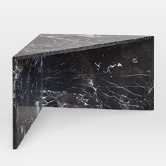 Like pieces of a puzzle, these marble tables can be arranged together as a side table or a staggered coffee table. Black West, Black Gold, Tall Table, Black Side Table, West Elm, Side Tables, Marble, Art Deco, Coffee