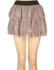 Lace/Tulle Ruffle Skirt -