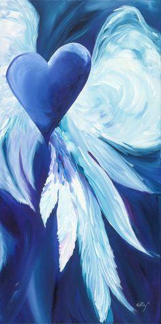 Original Acrylic on Canvas Heaven's Sky. $595.00, via Etsy.