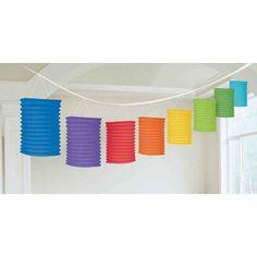 Rainbow Paper Lantern Garland | 12'