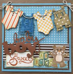 So Sweet - Baby Boy Card www.inspiredpapercrafts.com