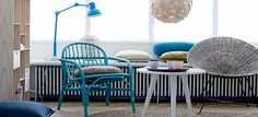 Posted by Will of Bright.Bazaar.com,  Bloomingville (Danish design), its that mix of blues I love to see.