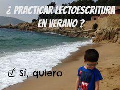 Ideas para practicar lectoescritura niños clubpequeslectores.com Beach, Water, Outdoor, Club, Magic Book, Libros, Pet Peeves, Vacations, Gripe Water