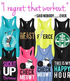 Motivate yourself at the #gym with some awesome new #Workout Tanks from NoBull Woman Apparel! Pick ANY 3 for only $59.99, click here to see them all http://nobullwoman-apparel.com/collections/sale-special-deals/products/3-workout-fitness-tank-tops-15-off-bundle-workout