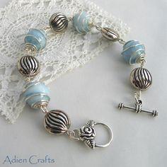 Aqua Gemstone Wire Wrapped Bracelet £14.95