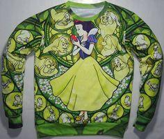 FELPA DONNA BIANCANEVE E I SETTE NANI cartoon HOODIES TG 40/42/44/46 ORDINARE in Abbigliamento e accessori, Donna: Abbigliamento, Felpe e tute   eBay