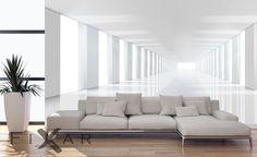 fototapeten | Geraumiger-korridor-vergroerung-fototapeten-fixar
