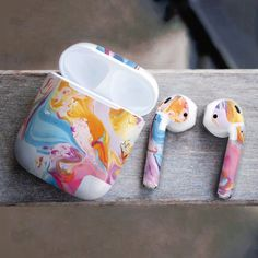 Watercolor Airpods Skin Colored Airpods Decal Marble AirPods Vinyl Sticker Art P headphone aesthetic Ipod Cases, Cute Phone Cases, Fone Apple, Accessoires Iphone, Earphone Case, Air Pods, Cute Cases, Iphone Accessories, Wireless Headphones
