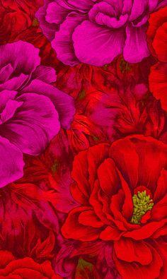 ▨texturas - red floral fabric                                                                                                                                                     Más