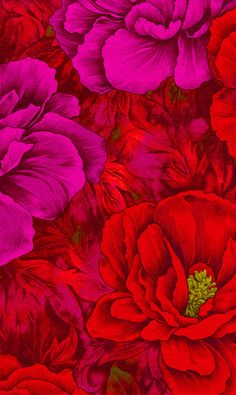 porch color scheme.  Love the vibrant color of this fabric! quilts kits.com red pink