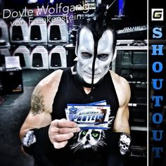 Misfits Guitarist Doyle Wolfgang von Frankenstein likes his DELICIOUS Chocolate Protein! #shoutout #gym #music #misfits #protein #makeup