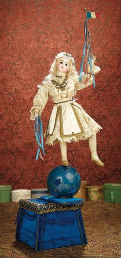 """The Memory of All That - Marquis Antique Doll Auction: 32 Very Rare French Automaton """"Vive La France"""" for 1889 Paris International Exposition"""