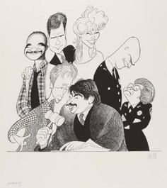 "Al Hirschfeld ~ ""Night Court"""