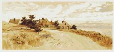 Seaside Cottages Landscape Counted Cross Stitch Pattern / Chart, Instant Digital Download   (AP394) Seaside Cottages, Counted Cross Stitch Patterns, Cottage Chic, Pattern Design, Needlework, Chart, Embroidery, Landscape, Digital