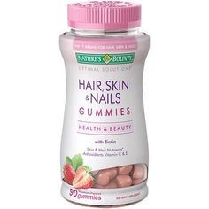 Natures Bounty Hair Skin and Nails Gummies Strawberry 90 Gummies >>> Visit the image link more details.