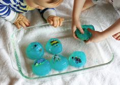 Gelatin Play for all ages (gelatin excavation)
