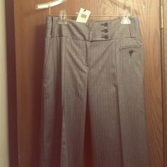 NEW WITH TAGS!  BCBG DRESS  PANTS NEW WITH TAGS!  BCBG Flared Cuffed Dress Pants. Wide Legged Medium Heathered Grey. There is a matching jacket on a separate listing if you are interested. BCBGMaxAzria Pants Wide Leg