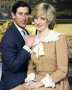 February 01, 1983: Princess Diana and Charles, an official portrait taken at Kensington Palace to mark their forthcoming visit to Australia and New Zealand...