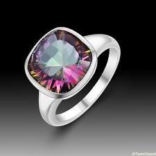 Unique Jewelry - Sweet Friendship Jewelry Rainbow Topaz S80 Silver Gemstone Ring size 8