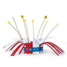 Paper Firecracker Crown Craft for Kids