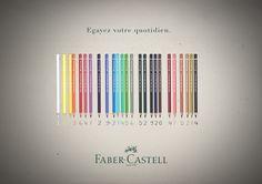 Sujet école, Nouvelle campagne de pub pour Faber Castell