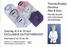 Thomas Bradley exclusieve outletverkoop -- Zottegem -- 08/04-22/04