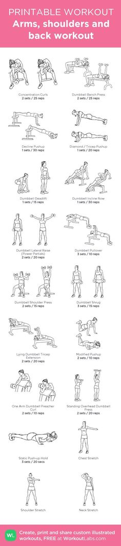 Arms, shoulders and back workout @WorkoutLabs #workoutlabs #customworkout: