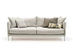 Gentry Sofa by Moroso |  Available in a variety of fabrics and leathers; this sofa is perfect in any space!
