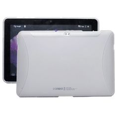 TPU Shell (Hvid Transparent) Samsung Galaxy Tab 10.1 P7500 Cover